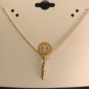 Gorjana Gold necklace w pave stones - new